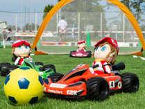 キッズパーク内で楽しめる「バギーカートサッカー」
