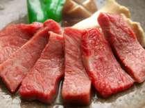 鳥取和牛の陶板焼。老舗のお肉屋さんから仕入れた本物の鳥取和牛です。