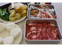滋賀牛と名物とりトンちゃんBBQ。地元のお野菜や近江米の焼きおにぎりもおすすめ