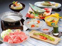 【夏の味覚会席】米沢牛しゃぶしゃぶ鍋とたっぷり夏野菜 香り会席 宿泊プラン