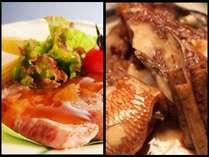 厳選和牛ステーキと人気の鯛のふっくら煮付