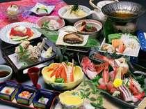 【至福の会席】牛肉ステーキ×あわび踊焼き×お造り5種盛×ずわいがに等☆特選御料理プラン☆