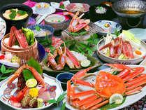 毎年人気の蟹尽くし会席!蟹をたっぷり楽しめます♪