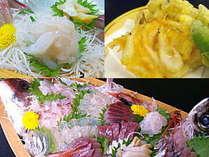 新鮮でおいしいお刺身たっぷりの舟盛と白えび料理に大満足。