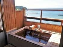 海を望む温泉露天風呂一例※天然温泉で温まります。