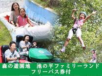 ♪森の遊園地♪池の平ファミリーランドフリーパス1日券付き☆池の平グループホテル宿泊限定の3大特典付