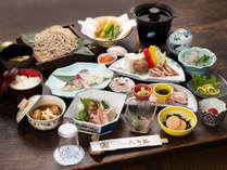*【ご夕食一例】全体/名物ほろほろ鳥料理や沼津港直送の新鮮な魚介類をご堪能ください