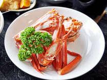 【夕食一例】紅ズワイガニ(通年提供)