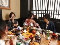 館内レストラン「お狩り場」でのひと時。美食膳に舌鼓。。。