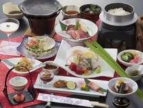 季節の和食膳プラン「春」~県産ブランド肉三種食べくらべと桜咲く春の膳~