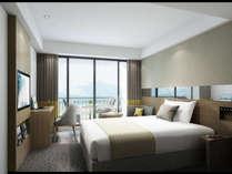 【シングル(イメージ)】2018年グランドオープンベッド幅160センチの広々としたお部屋です。