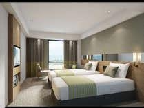 【ツイン(イメージ)】2018年グランドオープンベッド幅120センチ×2台のお部屋です。