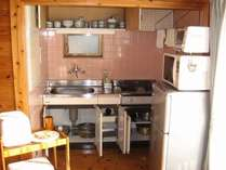 ★ロッジ★調理器具(食器等)が揃ったキッチン