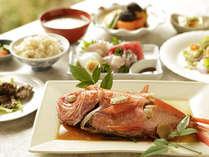 【夕食】金目鯛がメインのプラン(季節の一例)基本プラン+金目鯛の姿煮