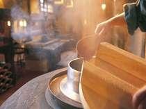 ふるさと館専用の食事処『壷中天』では毎日おいしい釜戸ご飯をどうぞ!