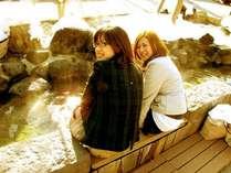~定山渓温泉の春~足湯は、とても気持ち良いです(*^_^*)
