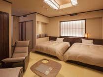 【7階特別フロア:ツイン/722号室】寛ぎのベッドルーム