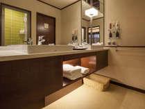 【7階特別フロア:ツイン/722号室】ゆったりとしたパウダールーム