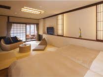【7階特別フロア:和ツイン/701号室】コンパクトな温泉付のお部屋