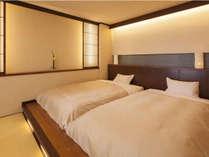 【7階特別フロア:和ツイン/701号室】寝心地の良いローベッドを設置