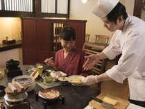 ご朝食は、お食事処『喜庵』で一手間かけた和食膳朝食をどうぞ♪