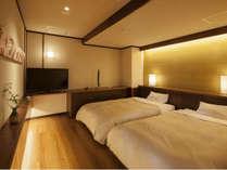 【7階特別フロア:温泉付デラックスツイン/703号室】ベッドルーム