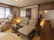 【7階特別フロア:温泉付デラックスツイン/702号室】温泉付のお部屋でゆっくり