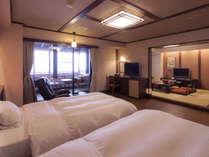 【温泉付和洋室/302号室】4名様までご宿泊可能な室内温泉付きのお部屋