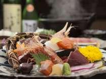 【夕食:基本コース】温泉とこだわりの夕食を/旬の会席「山ふかみ」
