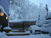 少し熱めの雪見貸切露天風呂は絶景です