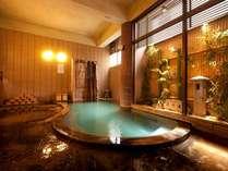 温泉は掛け流しの天然温泉です。(写真は大浴場)