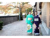 女性限定!着物で金沢散歩♪着付けもセットです!金沢駅から直行で着物に変身・荷物も運んでもらえます☆