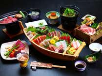 ≪船盛×豊後牛プラン お料理一例≫大分の新鮮海鮮を船盛でお楽しみいただけます。