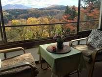 秋の部屋からの眺め