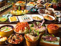 当館一番人気!!四季ごとの旬の食材をメインにしたバイキング♪