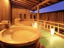 夕暮れの露天風呂。