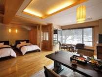 ■温泉付き客室■    ~雪の綿帽子~