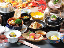 四季折々の会席料理の一例