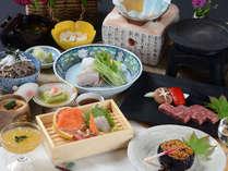 県産食材を使った会席料理