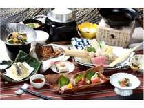 栃木県産・那須塩原の地元食材をふんだんに取り入れた自慢の会席料理(イメージ)2018GU