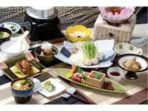 栃木県産ゆめポークや那須地鶏、那須大根など自慢の食材が取り入れられた会席料理(イメージ)2018TA