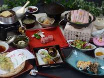 とちぎゆめポークや、那須高原牛など、栃木の自慢食材をふんだんに使用した会席料理(イメージ)