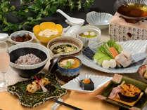 栃木県産・那須塩原の地元食材をふんだんに取り入れた自慢の会席料理(イメージ)201809TA