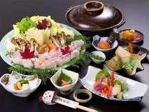 【クエ鍋コース】活クエを使ったクエ鍋コース♪他の魚では味わえない、脂のたっぷり乗ったクエをどうぞ☆
