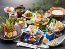 和食会席(イメージ)※焼物の鮎は3名盛りです。