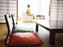 たまには和室で景色を眺めてのんびりと♪旅館らしい過ごし方が良い♪
