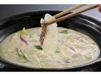 鯛のしゃぶしゃぶ豆乳鍋