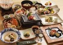 あわびのステーキ、海鮮しゃぶしゅぶ、めんめの淡煮、和牛陶板焼きなどの13品