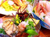 【夕食】伊勢エビまたはアワビを選べるプラン(お造り) 季節の一例