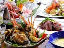 【夕食】お2人様毎に、伊勢エビ・アワビ・サザエの岬風宝楽焼が付きプラン